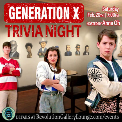 Pic of Ferris Buller kids, and title of Gen X