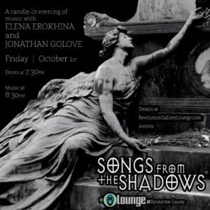 SONGS from the SHADOWS October 1st
